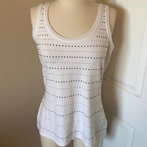 🔥WHBM White Jewel Tank Size Medium NWOT🔥
